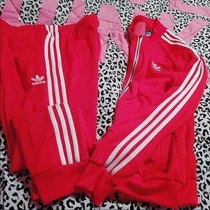 Red adidas set